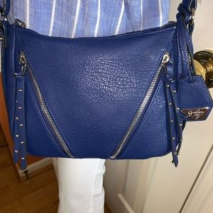 Blue vegan leather Jessica Simpson cross body bag